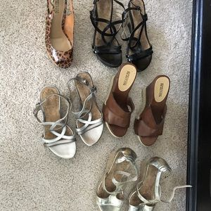 5 pairs of Kenneth Cole wedge sandals